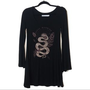 Gypsy Warrior Black Snake Swing Dress